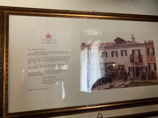 Letter of appreciation from Queen Mother's Lady-in-Waiting
