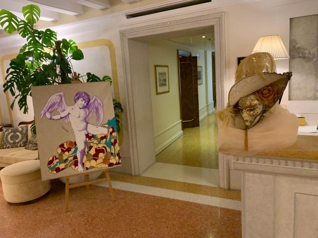 hallway to restaurant