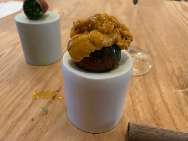 sea urchin cream puff