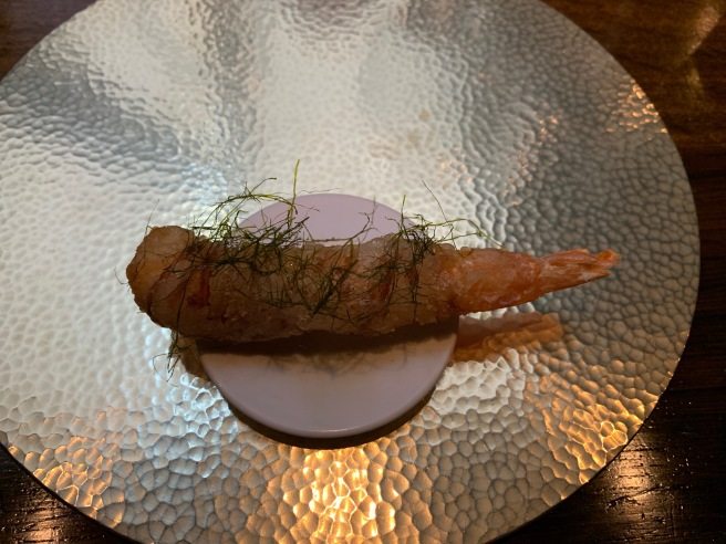 jellyfish-wrapped shrimp with kamtae