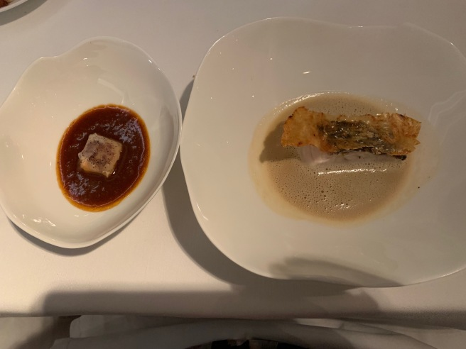 crocker fish with cuttlefish reduction